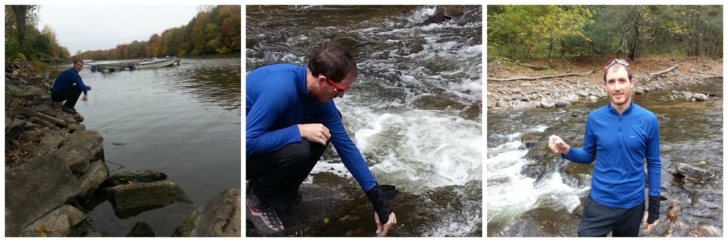 Marcus Welker collecting samples.