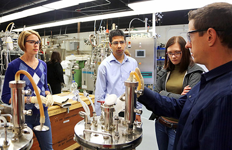 Ben Woodard (right) Director of the Biotech Research and Education Program.