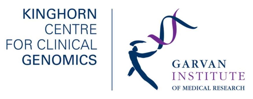 Kinghorn Centre and Garvan Institute Logos