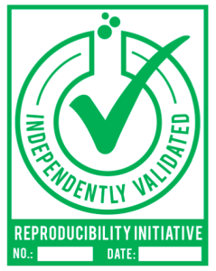 An 'Independently Validated' badge will be awarded to those antibodies that are validated as part of the Reproducibility Initiative