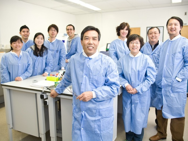 Dr. Li and his team at the UCLA Clinical Microarray Core.