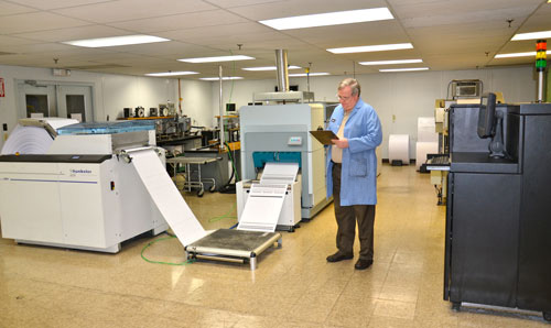 Gordon Hardy in the lab at Hunt Imaging.