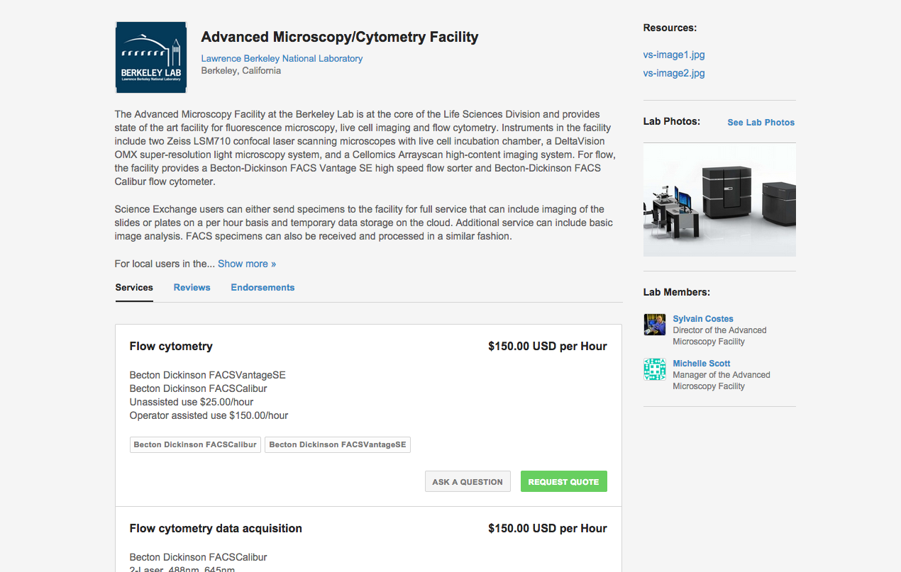 Storefront Advanced Microscopy/Cytometry Facility
