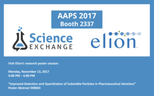 Science Exchange and Elion at AAPS